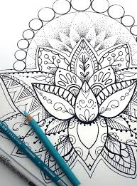 Lotus Flower Coloring Page Design For Kids Free Printable Coloring