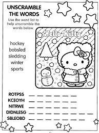 Small Picture XMAS COLORING PAGES HELLO KITTY XMAS ACTIVITY PAGE WORD SCRAMBLE