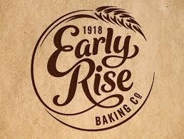 Early Rise Baking Company Logo Boutique Bakery Logo Typography