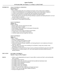 Lead Custodian Resume Samples Velvet Jobs