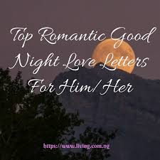 romantic good night love letters for