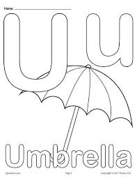 Glamorous Letter U Coloring Pages Preschool For Funny Letter U