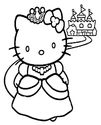 Small Picture hello kitty princess coloring page Coloring Pages Ideas