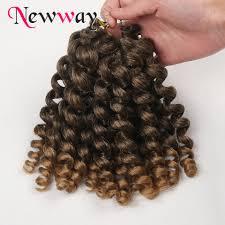 Aliexpress Com Buy Jumpy Wand Curl Crochet Braid Hair Bundles