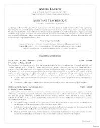 Teacher Skills For Resume New Teacher Aid Resume Teacher Cover Letter No Experience Student