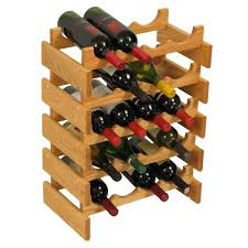 absolutely wine bottle display countertop oak wood rack stand image i loading case idea box cabinet holder console table