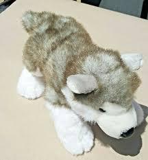 siberian husky retired barking build a bear stuffed dog 15 grey