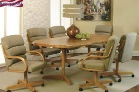 dining sets with rolling chairs prodigious table awesome best home design kitchen interior 3