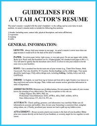 Audition Resume Template Cool Learning To Write An Audition Resume Resume Template 15