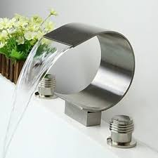 faucets for bathroom sinks. contemporary waterfall brass nickel brushed bathroom sink faucets -- faucetsuperdeal.com for sinks