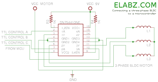 brushless dc bldc motor arduino part 2 circuit and software connecting a bldc motor to sn754410ne driver ic and a microcontroller