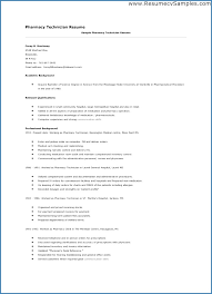 Examples Of Pharmacy Technician Resumes Publicassets Us