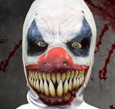 sharp teeth costume. the 3d effect killer clown mask sharp teeth costume