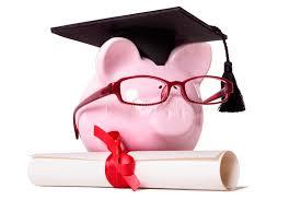 graduate piggy bank student college graduation diploma stock image   graduate piggy bank student college graduation diploma stock image image 52408807