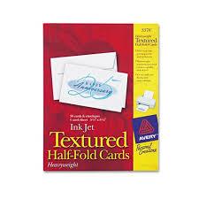 Half Fold Card Template Avery Card Templates Half Fold Half Fold Card Stock With Feathered