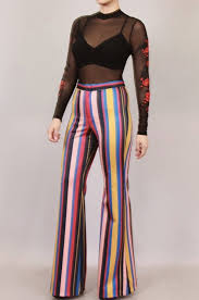 Bell Bottom Pajama Design Over The Rainbow Pants Pants Color Stripes Bell Bottoms