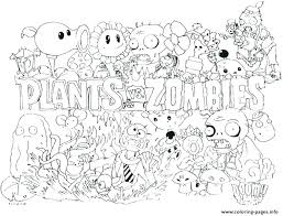 Plants Vs Zombie Coloring Pages Plants Vs Zombie Fun Plants Vs