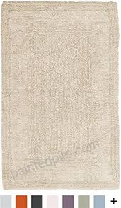 pinzon luxury reversible cotton bath mat 30 x 50 inch ivory b000t2t8c0