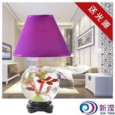 Glass Fish Tank Decoration Lamp Modern Fish Tank Table Lamp Bedside Table  Lamp Table Lamp