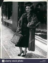 Jul. 07, 1954 - Mink Typewriter cover -to Match her coat opening of Stock  Photo - Alamy