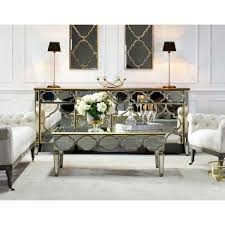 mirrored furniture. Venetian Mirrored Furniture Gold Patterned Sideboard