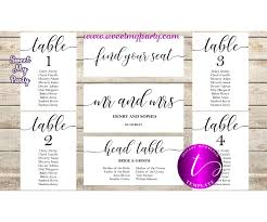 Party Seating Chart Template Rustic Wedding Seating Chart Template Wedding Find Your Seat Template 051w