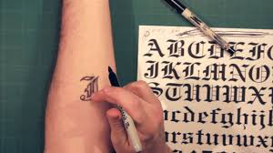 Fonts For Tattoos Sharpie Tattoo Lettering And Fonts How To Youtube