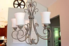 chandelier makeover with chalk paint lighter and brighter