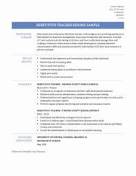 Substitute Teacher Resume Sample Teacher Resume Experience Resume Template 41