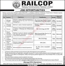 New Jobs Railcop Jobs 2019 August September Railway Constructions