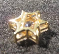 contemporary star of david 14k solid