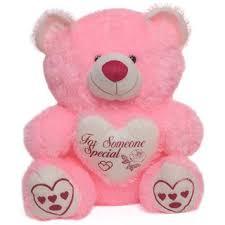 khushi cute beautiful teddy bear pink