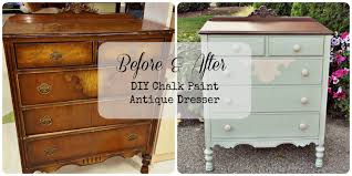 Before and After Chalk Paint Dresser