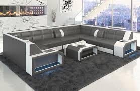 Couch Turino L Form Mit Echtleder Und Kunstleder In Gut