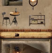 <b>American retro loft iron</b> wall lamp balcony aisle corridor stair pub ...