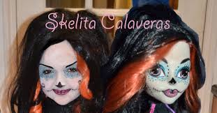 skelita calaveras monster high doll makeup tutorial muu ha ha