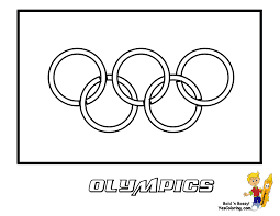 Olympic Flag Coloring Page You Have