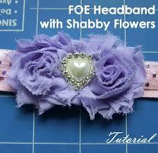 Foe Headband With Shabby Flowers Tutorial Sarah Lauren