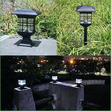 66u0027 Tall Solar Lamp Post And Planter 3 Heads White Leds Black Solar Garden Post Lights