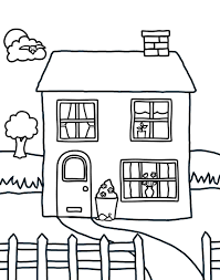 Free Printable House Coloring Pages For Kids Dog House Coloring ...
