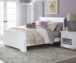 8030 Riley Sleigh Bed White with Trundle Storage Drawers Walnut