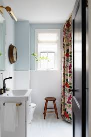Small bathroom design with vintage industrial tiles