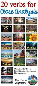 Blog Post And Freebie Download On Analytical Verbs From ...
