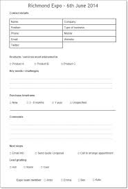 Enquiry Form Template Word Sales Lead Form Template Word