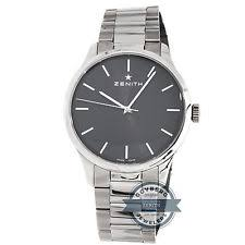 zenith port royal wristwatches zenith port royal 03 5010 2562 91 m5010 manual 40mm steel mens bracelet watch