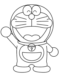 670x867 doraemon waving coloring page h m coloring pages