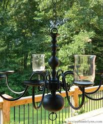 repurposed chandelier under the table and dreaming repurposed brass lighting fixture turned outdoor candle chandelier diy