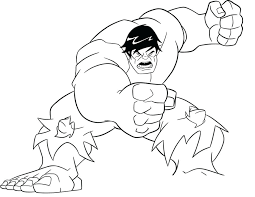 hulk coloring pictures pages incredible colouring to print