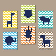 canvas prints for baby room. ZOO JUNGLE Wall Art Nursery Canvas Animal Artwork Child Boy Girl Giraffe Owl Zebra Elephant Monkey Prints For Baby Room R