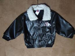 details about faux leather jacket size 3t black er aviator toddlers coat bulldog applique
